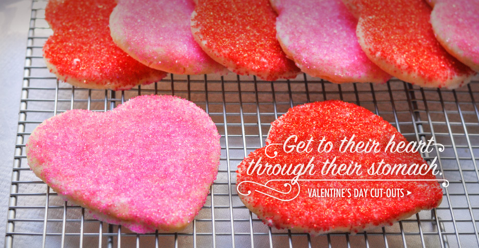 Get to their heart through their stomach. Valentine's Day Cut-outs