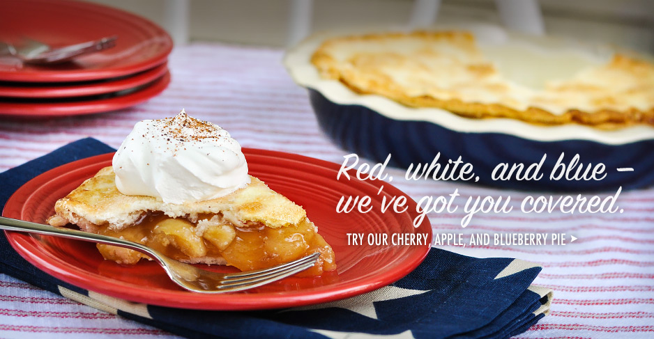 Try our cherry, apple, and blueberry pie