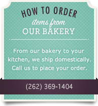 How to order items from our bakery