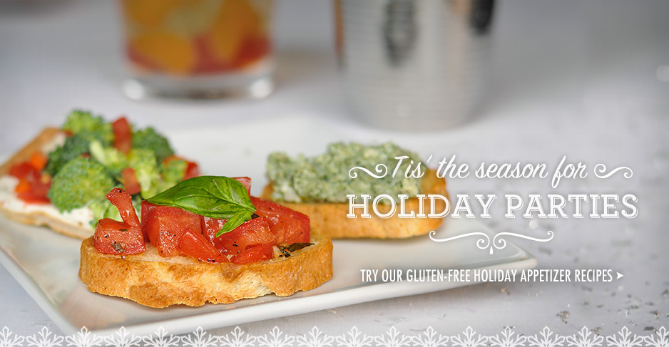 Try our gluten-free holiday appetizer recipes