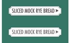 Sliced mock rye bread